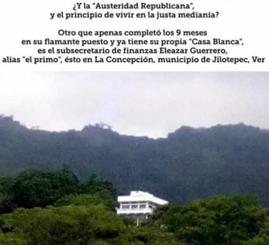Exhiben en redes sociales nueva 'Casita Blanca' de Eleazar Guerrero