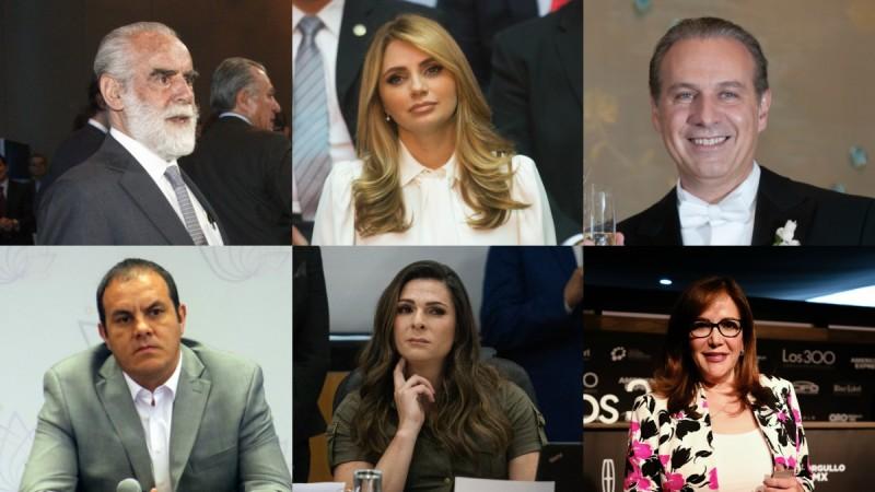 Los perdonados del SAT: Yeidckol, 'Cuau', Diego, Angélica Rivera, Ana Guevara...