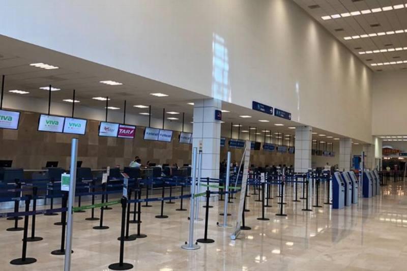 Disminuye número de vuelos en aeropuerto de Veracruz por Covid-19