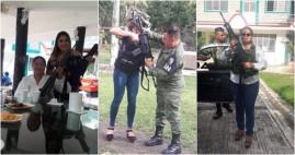 Denuncian ante la FGR por fotos donde funcionarios del ayuntamiento de Teocelo se exhiben con armas