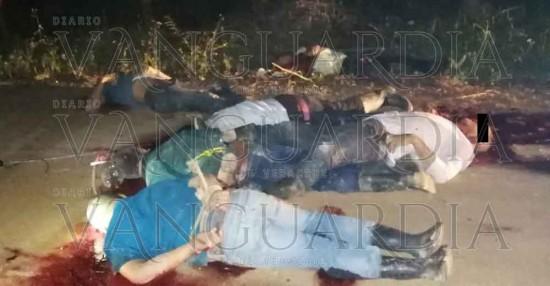 Masacre en Las Choapas. Dejan 10 cadáveres baleados, todos atados.
