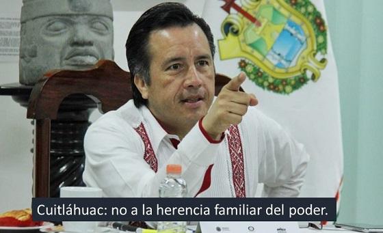 Sí Gobernador: no a la herencia de cargos
